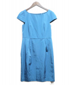 JUSGLITTY(ジャスグリッティー)の古着「ブラウスワンピース」|ブルー
