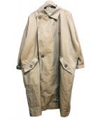 INHERIT(インヘリット)の古着「スクウェアビッグコート」 カーキ