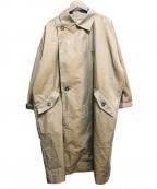 INHERIT(インヘリット)の古着「スクウェアビッグコート」|カーキ