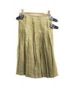 ONEIL OF DUBLIN(オニール オブ ダブリン)の古着「リネン巻きスカート」 カーキ