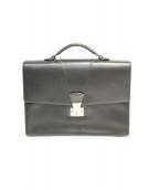 Cartier(カルティエ)の古着「レザーブリーフケース」|ブラック