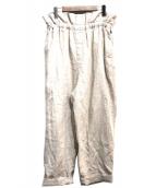 BEAMS BOY(ビームスボーイ)の古着「リネンワイドパンツ」|ベージュ