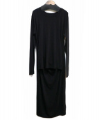 MM6(エムエムシックス)の古着「カットソーワンピース」|ブラック