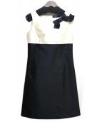 MS GRACY(エムズグレイシー)の古着「ノースリーブワンピース」|アイボリー×ブラック
