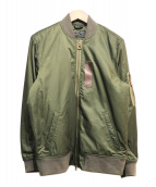 Abercrombie & Fitch(アバクロンビーアンドフィッチ)の古着「MA-1ジャケット」|カーキ