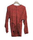 Comptoir des Cotonniers(コントワー デ コトニエ)の古着「長袖ブラウス」 レッド