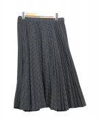 Comptoir des Cotonniers(コントワー デ コトニエ)の古着「プリーツスカート」|ブラック×ネイビー