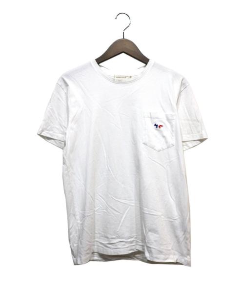 MAISON KITSUNE(メゾンキツネ)MAISON KITSUNE (メゾンキツネ) ポケットTシャツ ホワイト サイズ:Sの古着・服飾アイテム