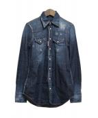 DSQUARED2(ディースクエアード)の古着「Denim stretch shirt」|インディゴ