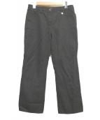 LOUIS VUITTON(ルイヴィトン)の古着「リネンコットンパンツ」|ブラック