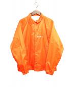 F.A.M.T.(ファックアートメイク ティーズ)の古着「メッセージコーチジャケット」|オレンジ