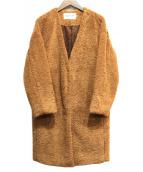 RAY BEAMS(レイビームス)の古着「ノーカラーコート」 ブラウン