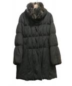 Viaggio Blu(ヴィアッジョブル)の古着「フォックスファー付ダウンコート」|グレー
