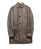 MOORER(ムーレー)の古着「ダウンベスト付コート」|ブラウン