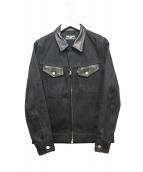 RUDE GALLERY(ルードギャラリ)の古着「切替デニムジャケット」|ブラック