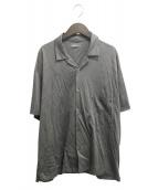 08sircus(08サーカス)の古着「silky jersey open collar shirt」 カーキ