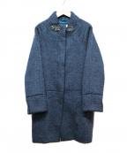 Viaggio Blu(ビアッジョブルー)の古着「Aラインコート」 ネイビー