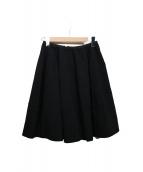 FOXEY(フォクシー)の古着「ダブルフェイススカート」|ブラック