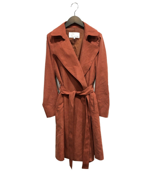 ABAHOUSE ecru(アバハウス エクリュ)ABAHOUSE ecru (アバハウス エクリュ) トッパーコート オレンジ サイズ:34の古着・服飾アイテム