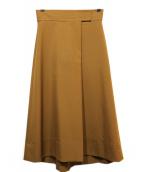 martinique(マルティニーク)の古着「タックフレアスカート」|ブラウン