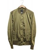 Denham(デンハム)の古着「ジップアップブルゾン」|オリーブ