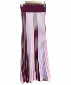 LAGUNA MOON(ラグナムーン)の古着「パネルカラーニットスカート」 パープル