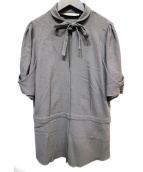 BALENCIAGA(バレンシアガ)の古着「スキッパーブラウス」|グレー