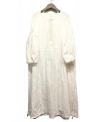 &decor(アンデコール)の古着「リネンブラウスワンピース」|ホワイト