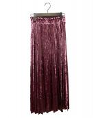GRACE CONTINENTAL(グレースコンチネンタル)の古着「ベロアプリーツスカート」|パープル