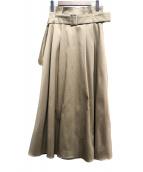 UNITED TOKYO(ユナイテッドトウキョウ)の古着「ミリタリーボリュームフレアスカート」|ベージュ