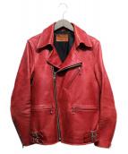 RUDE GALLERY(ルードギャラリー)の古着「カウレザーライダースジャケット」|レッド