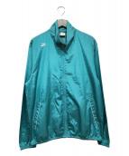 ()の古着「ウーブンアンラインドフルジップジャケット」 グリーン