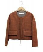 MARNI(マルニ)の古着「ノーカラージャケット」|ブラウン