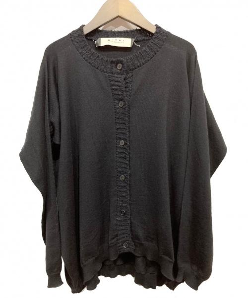 MARNI(マルニ)MARNI (マルニ) ゲージスイッチカーディガン ブラック サイズ:40の古着・服飾アイテム