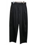 Luis(ルイス)の古着「タックワイドスラックス」|ブラック