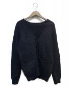 uniform experiment(ユニフォームエクスペリメント)の古着「モヘヤカーディガン」|ブラック