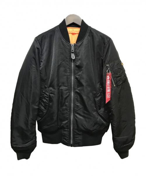 ALPHA(アルファ)ALPHA (アルファ) リバーシブルブルゾン ブラック×オレンジ サイズ:MEDIUMの古着・服飾アイテム