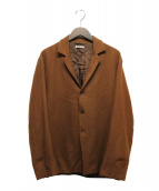 AURALEE(オーラリー)の古着「SELVEDGE WOOL VIYELLA JACKET」|ブラウン