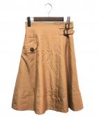 Apuweiser-riche(アプワイザーリッシェ)の古着「ハイウエストトレンチスカート」 ベージュ