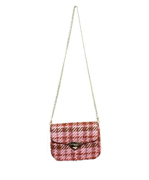 eimy istoire(エイミー イストワール)eimy istoire (エイミー イストワール) スプリングツイードショルダーバッグ ピンクの古着・服飾アイテム