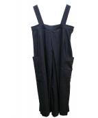 yuni(ユニ)の古着「強撚コットンサロペット」|ブラック