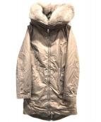 PEUTEREY(ビューテリー)の古着「USED加工フォックスファーダウンコート」|ピンク