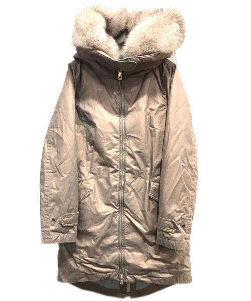 PEUTEREY(ピューテリー)PEUTEREY (ピューテリー) USED加工フォックスファーダウンコート ピンク サイズ:42の古着・服飾アイテム