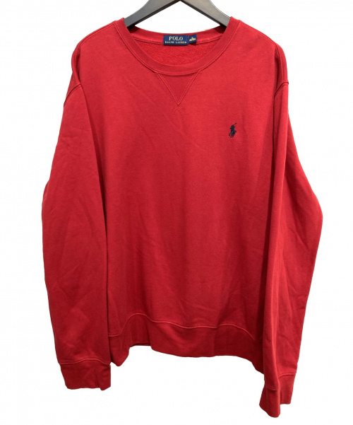 POLO RALPH LAUREN(ポロラルフローレン)POLO RALPH LAUREN (ポロラルフローレン) クルーネックスウェット レッド サイズ:XLの古着・服飾アイテム