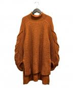 styling/(スタイリング)の古着「ケーブルスリーブプルオーバー」|オレンジ