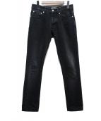 AMI Alexandre Mattiussi(アミ アレクサンドル マテュッシ)の古着「フィットファイブポケットジーンズ」|ブラック