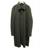 HOMME PLISSE ISSEY MIYAKE(オム プリッセ イッセイ ミヤケ)の古着「プリーツステンカラーコート」 グリーン