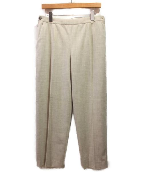 HERMES(エルメス)HERMES (エルメス) ウール混ワイドパンツ グレージュ サイズ:42の古着・服飾アイテム