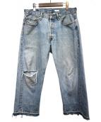 OLD PARK(オールドパーク)の古着「再構築デニムパンツ」|インディゴ