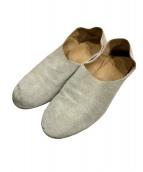 QUE shoes(キューシューズ)の古着「スウェードフラットシューズ」|ベージュ